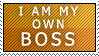 I am my own boss - Stamp by cheaterguy
