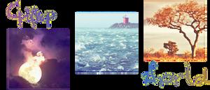 Sky, Sea, Earth with colours