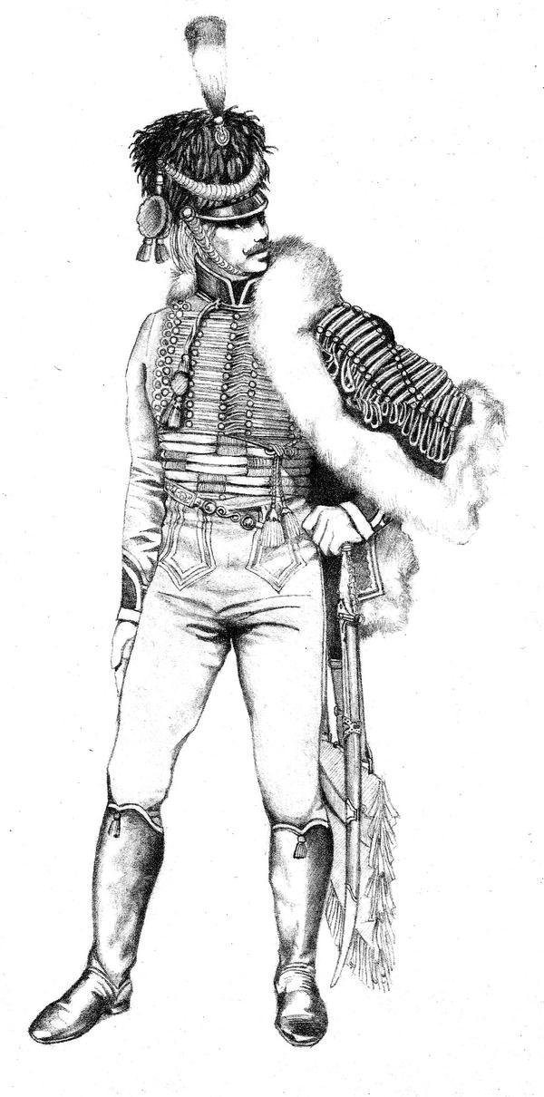 French hussar by Kallikanzaros