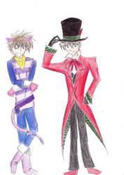 Kaito and Shinichi Wonderland by BakaThief