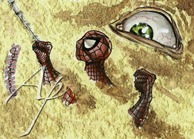 Spider-Man Sandman Sketch Card by JohnHaunLE