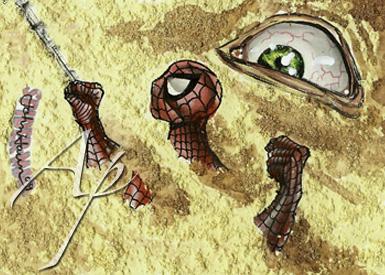 Spider-Man Sandman Sketch Card by JohnHaunLE