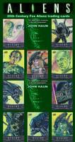 Aliens Sketch Cards John Haun