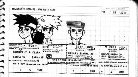 Inktober's doodle (13, 14 and 15) by JoshBeta1