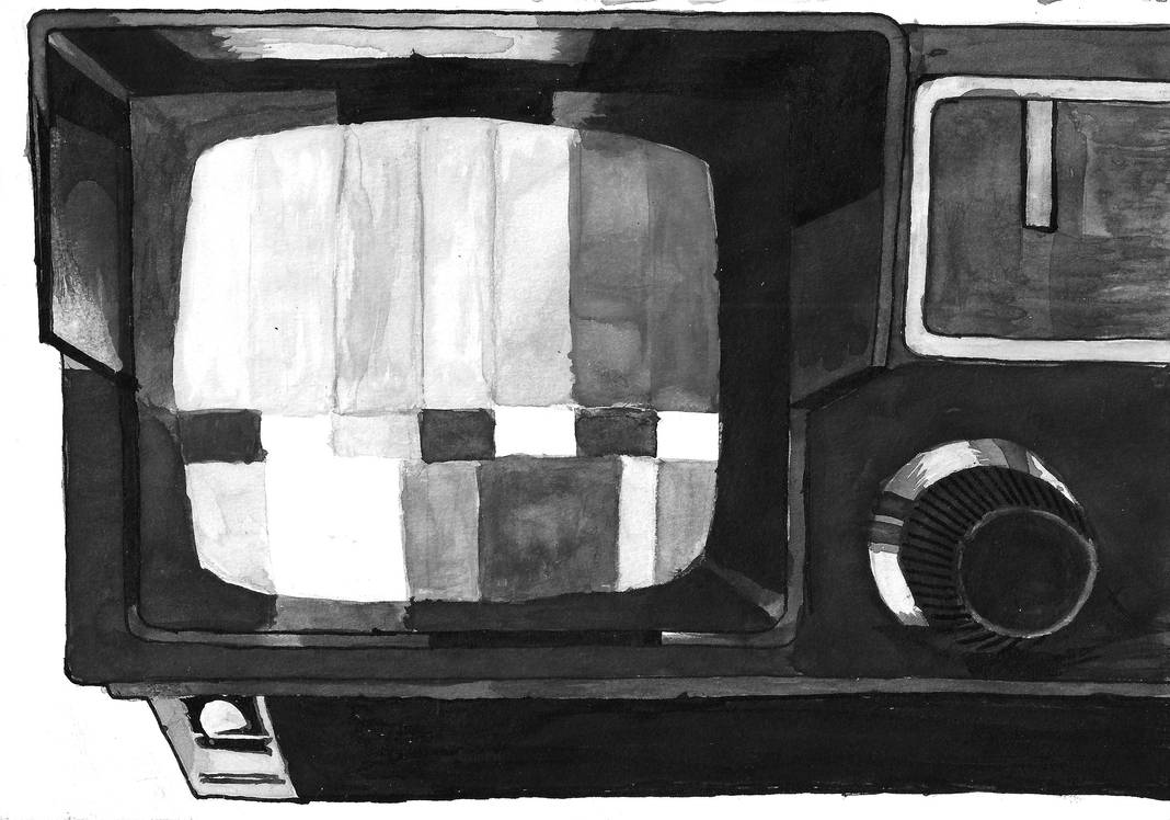 My old and little TV with radio attached (2019) by JoshBeta1