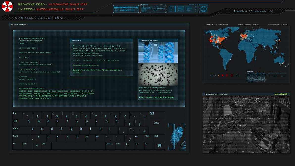 Hd wallpaper underwater - Umbrella Corporation Terminal Touchscreen Versio By