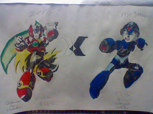 megaman x zero by amazerbeta