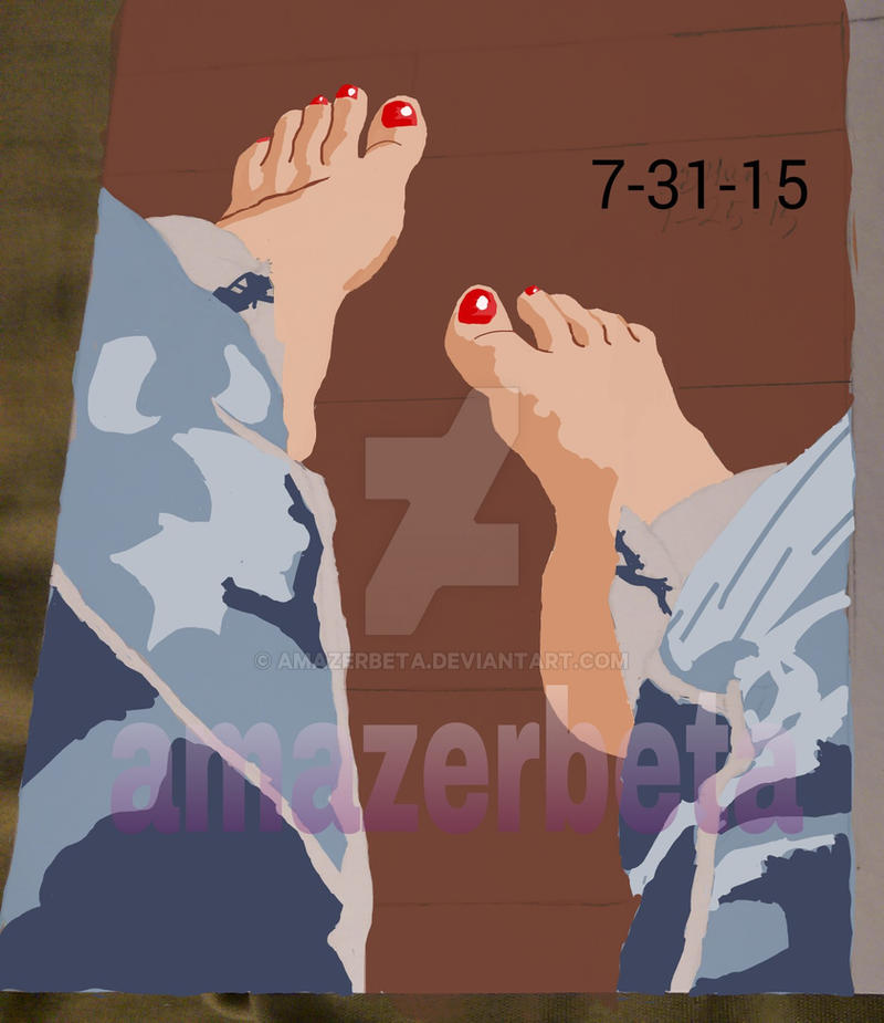 Teenage hispanic girl feet by amazerbeta
