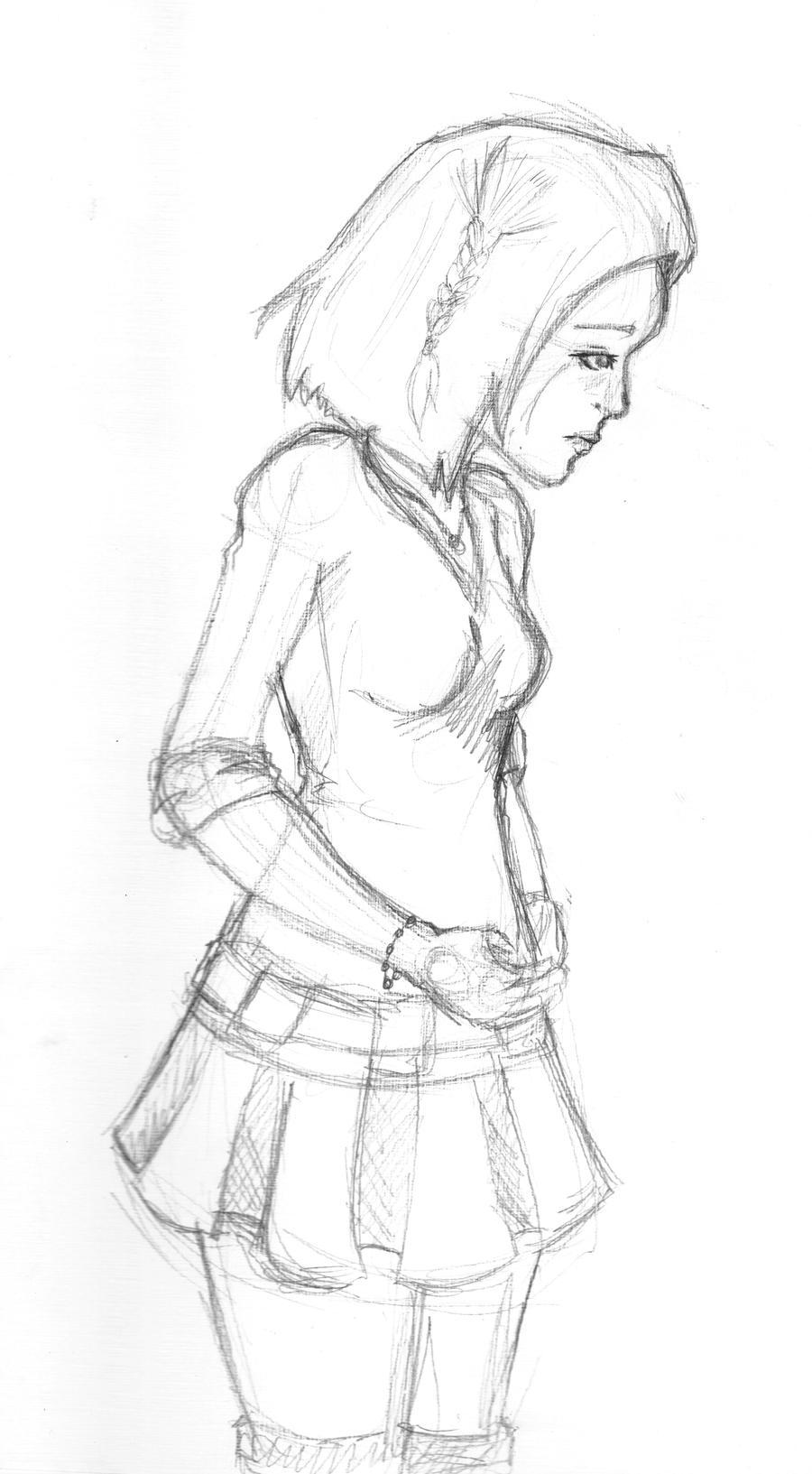 Sad Girl by michichibi on DeviantArt