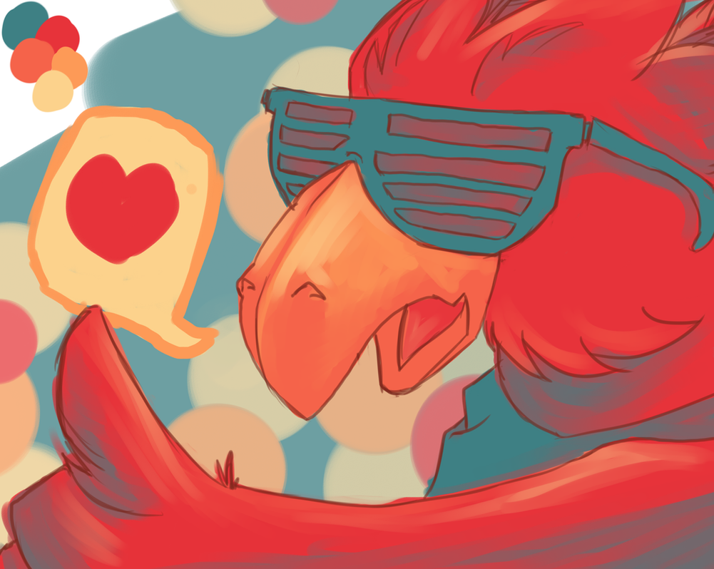 Colour Pallet meme 3: Red Chocobo (Rojo) by michichibi