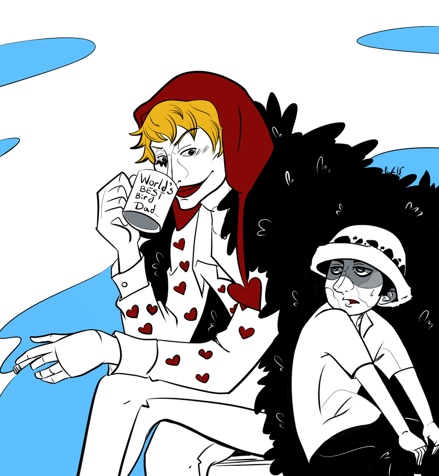 Corazon and Law by michichibi
