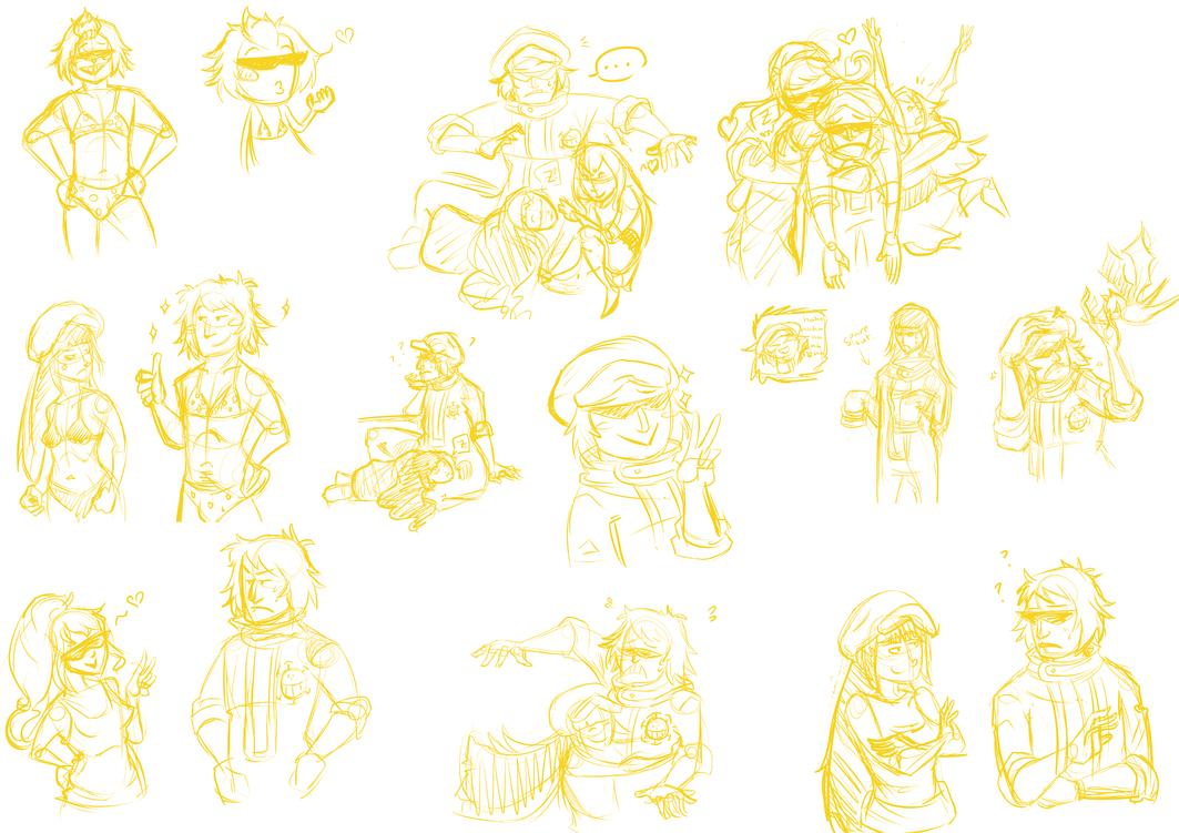 OP Doodles 5 by michichibi