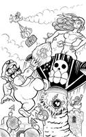 Wario and Captain Syrup by goemonsama