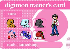 digimon trainer's card by LadyMascara