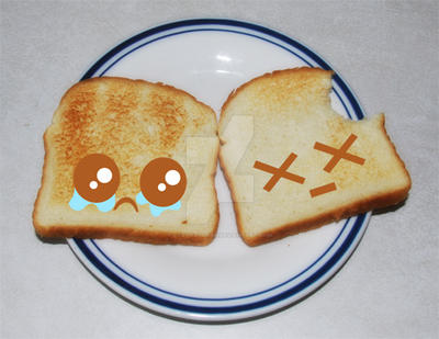 poor toast by LadyMascara