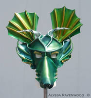 Dragon - leather mask by Alyssa-Ravenwood