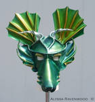Dragon - leather mask