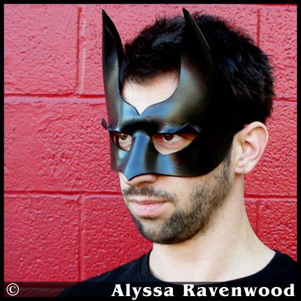 Dark Hero leather mask by Alyssa-Ravenwood