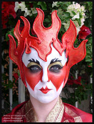 Fire Goddess fantasy makeup by Alyssa-Ravenwood