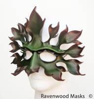 Greenman - leather mask by Alyssa-Ravenwood