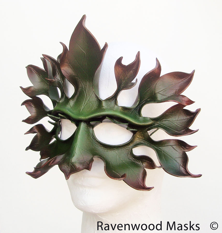 Greenman - leather mask by Alyssa-Ravenwood