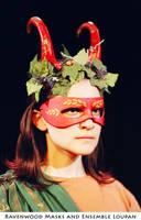 Dionysus - theater mask by Alyssa-Ravenwood