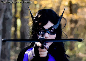 Huntress cosplay mask by Alyssa-Ravenwood
