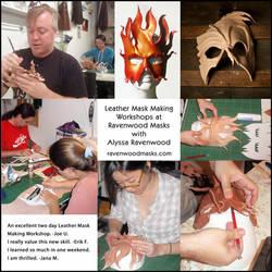 Leather Mask Making Workshops by Alyssa-Ravenwood