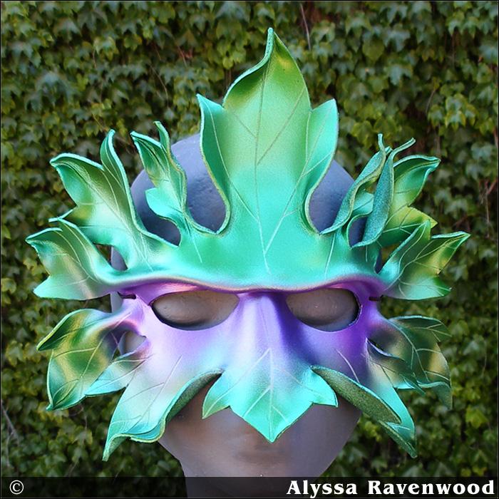 Mardi Gras Greenman by Alyssa-Ravenwood