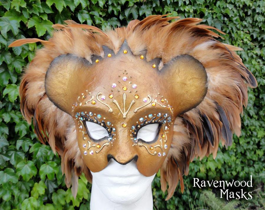 Lion Masquerade Mask by Alyssa-Ravenwood