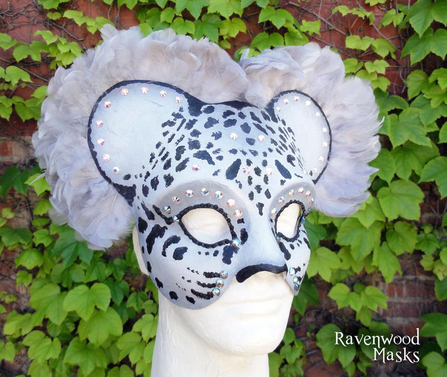 Snow Leopard mask by Alyssa-Ravenwood