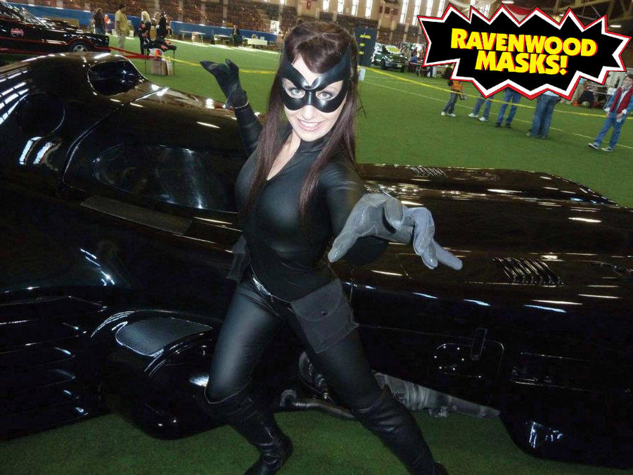 Catwoman cosplay mask by Alyssa-Ravenwood