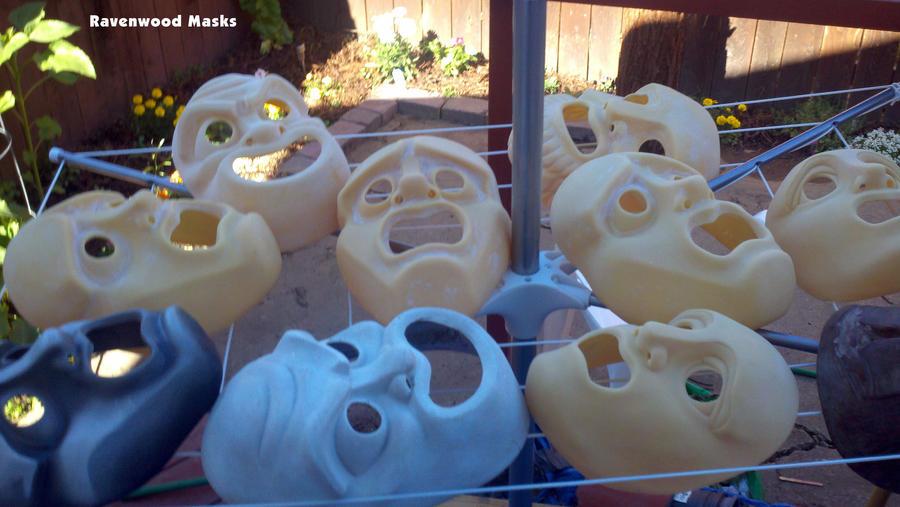 WIP Greek masks #1 by Alyssa-Ravenwood