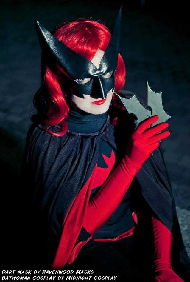 Batwoman Cosplay - leather mask by Alyssa-Ravenwood