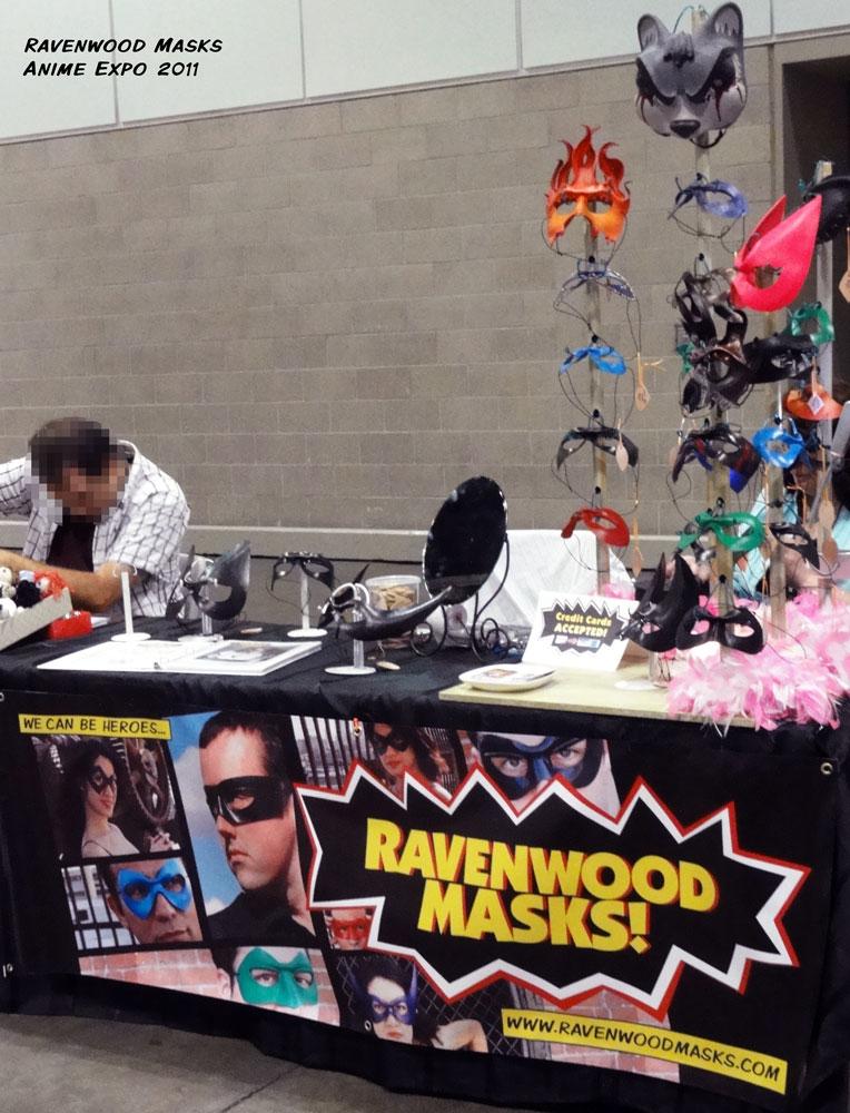 Ravenwood Masks booth at Anime Expo 2011 by Alyssa-Ravenwood