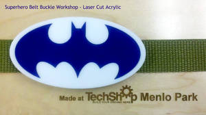 Superhero laser cut belt buckle