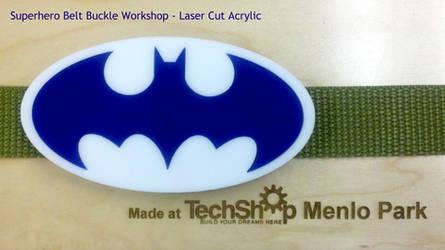 Superhero laser cut belt buckle by Alyssa-Ravenwood