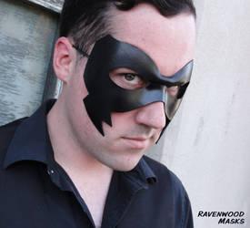 Leather mask - Crow by Alyssa-Ravenwood