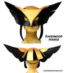 Hawkgirl cosplay leather mask by Alyssa-Ravenwood