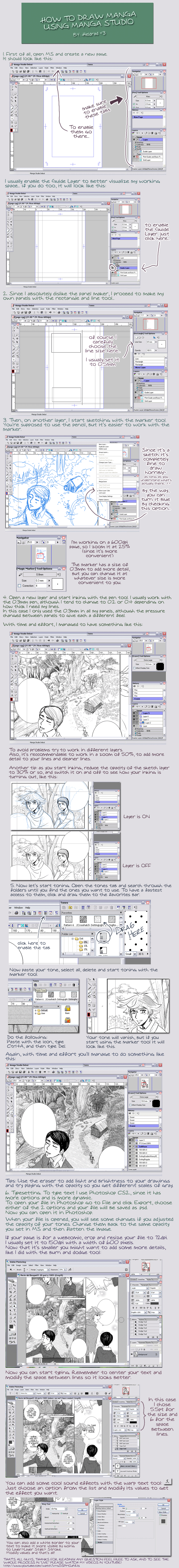 manga studio tutorial by Heldrad