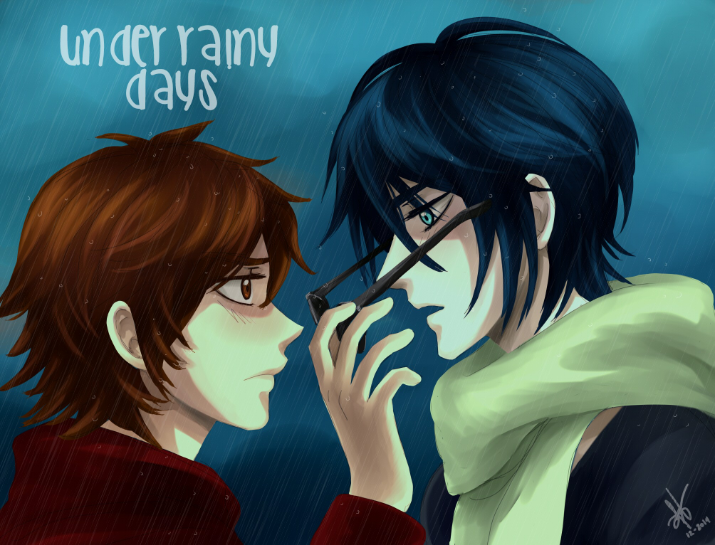 Under Rainy Days fanart by Heldrad