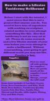 Taxidermy Hellhound Tutorial by Knuxtiger4