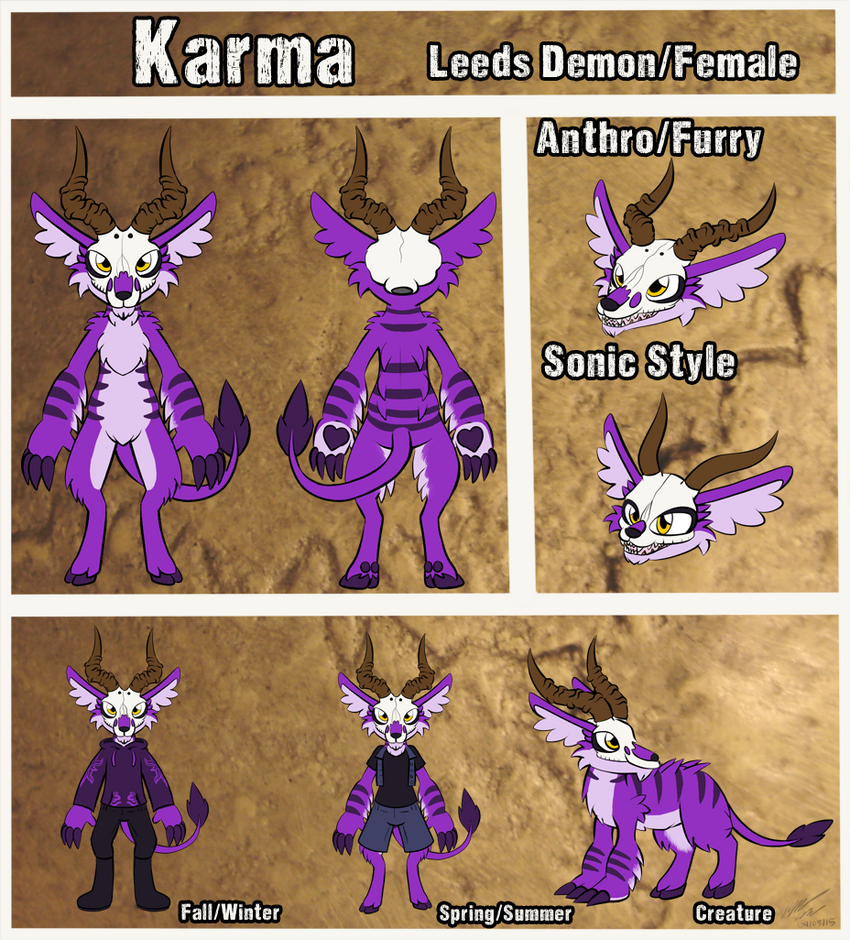 Knux's Not So Dead Thread of Arts - Page 6 2015__karma_reference_sheet_by_knuxtiger4-d8ogv4w