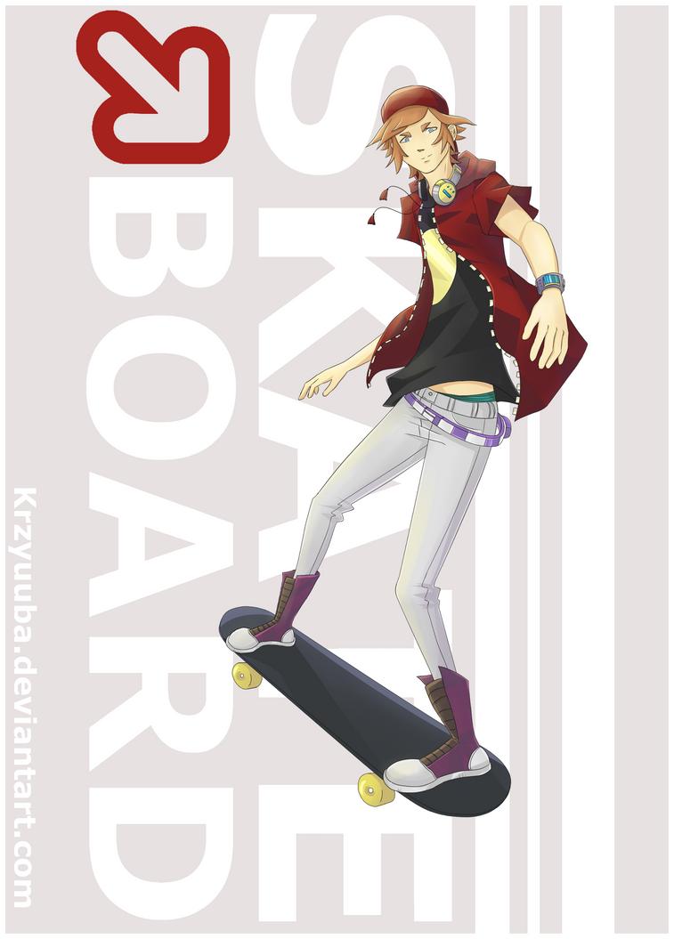 Skateboard by Krzyuuba