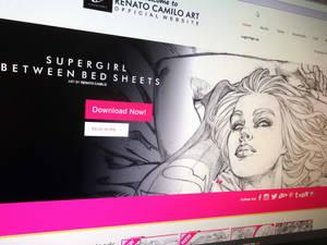 Supergirl Between Bed Sheets!