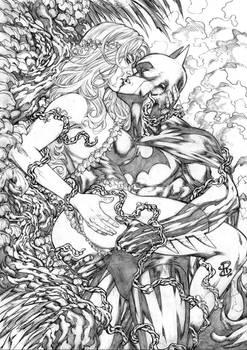 Poison Ivy and Batman!