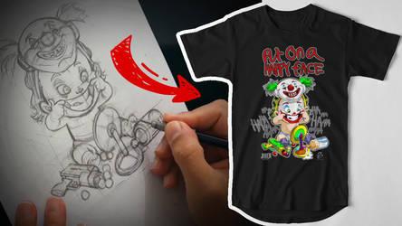 Joker Baby Design for a T-Shirt