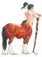 Watchful Centaur by Distraction-Number-4