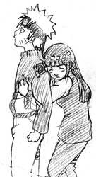 NaruHina scketch by Pia-sama