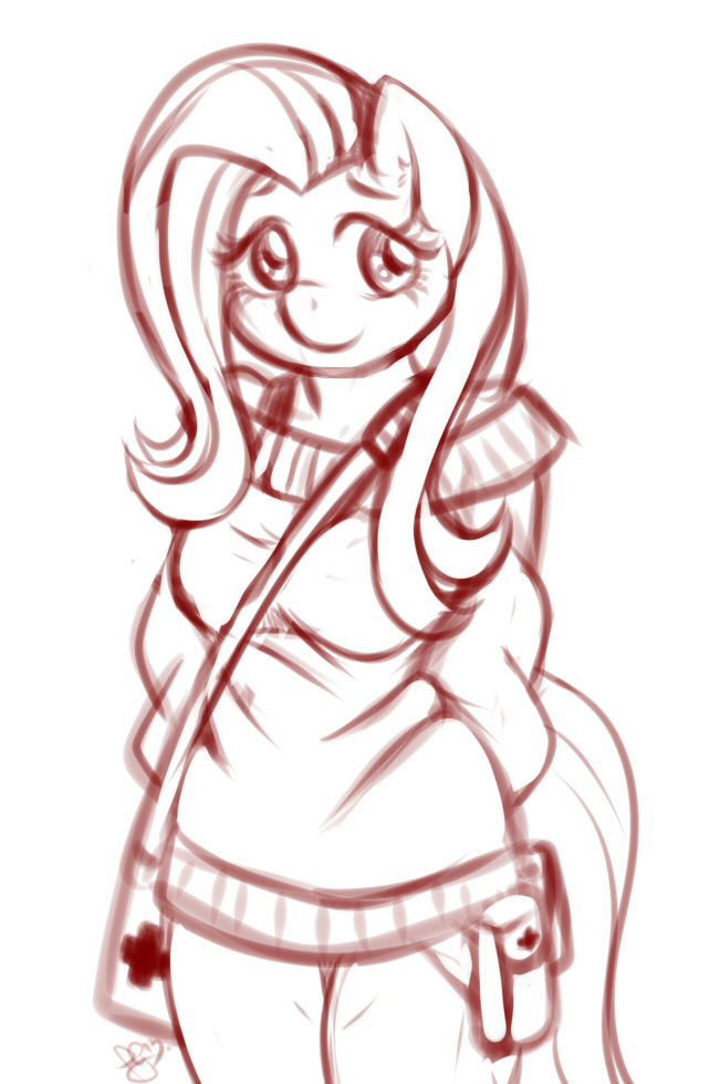 Sketch - Flutters outfit by Pia-sama
